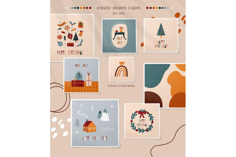 abstract-christmas-set