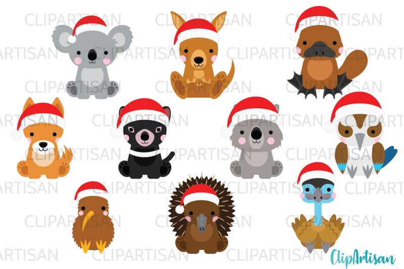 australian-animals-clip-art-kiwi-christmas