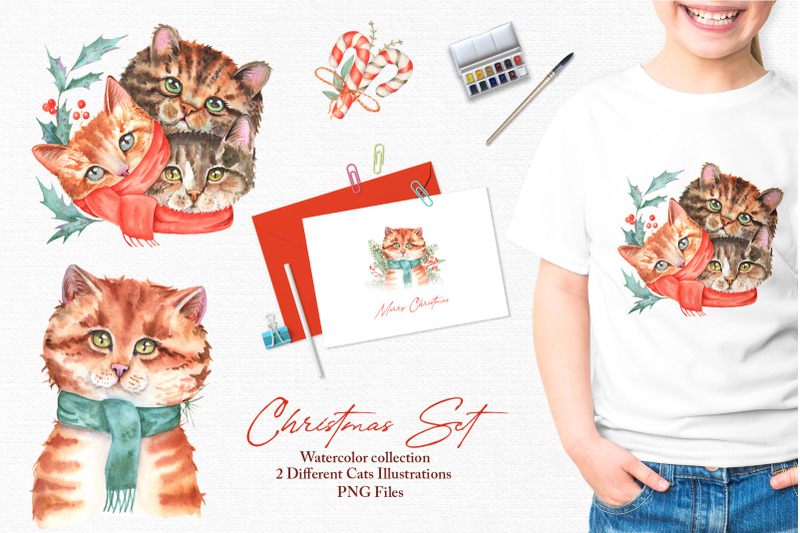 watercolor-christmas-set
