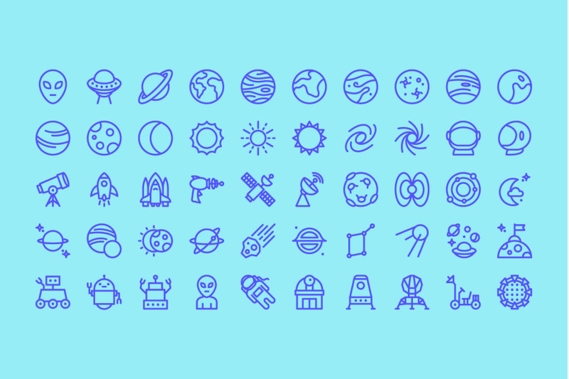 universe-line-icons
