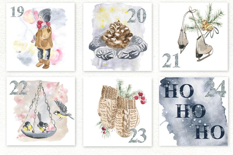 winter-advent-calendar-set