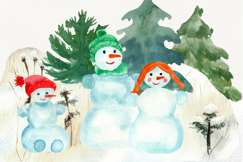snowman-family-clipart