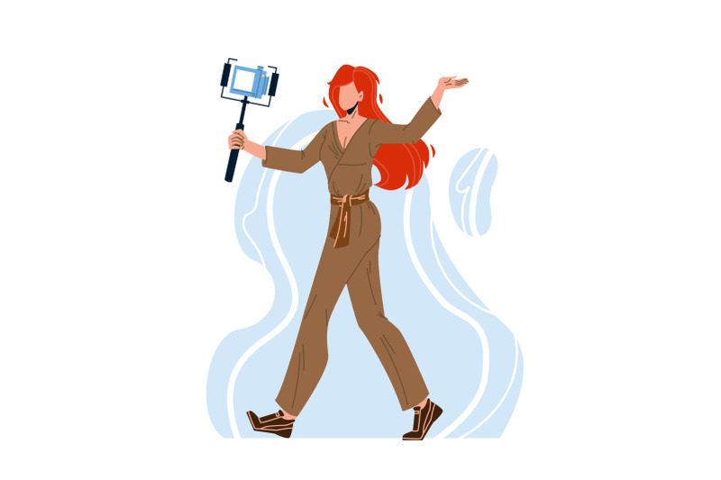 blogger-woman-recording-video-with-camera-vector