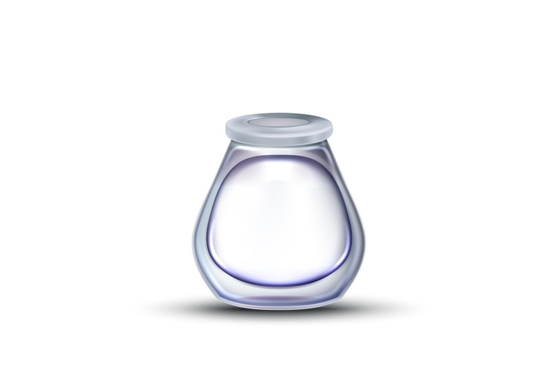 inkwell-stationery-empty-glass-container-vector