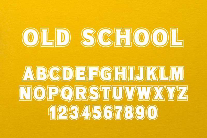 old-school-80s-font