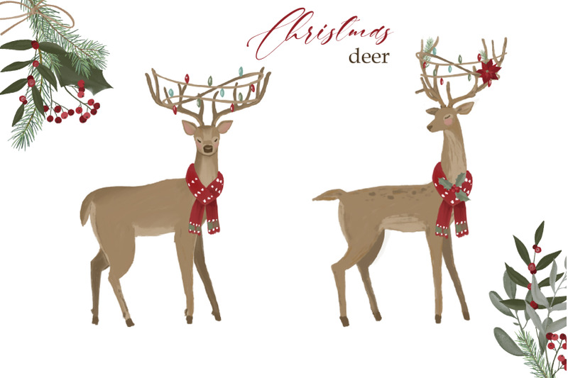 woodland-christmas-clipart