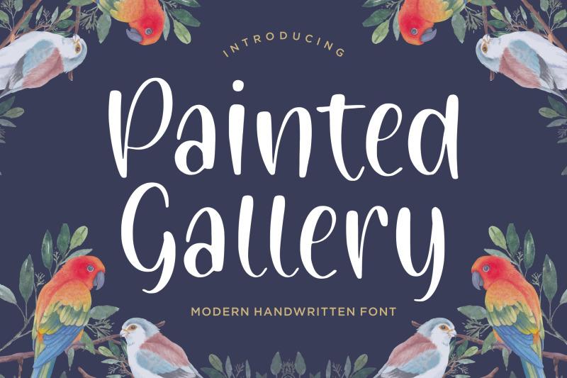 painted-gallery-modern-handwritten-font