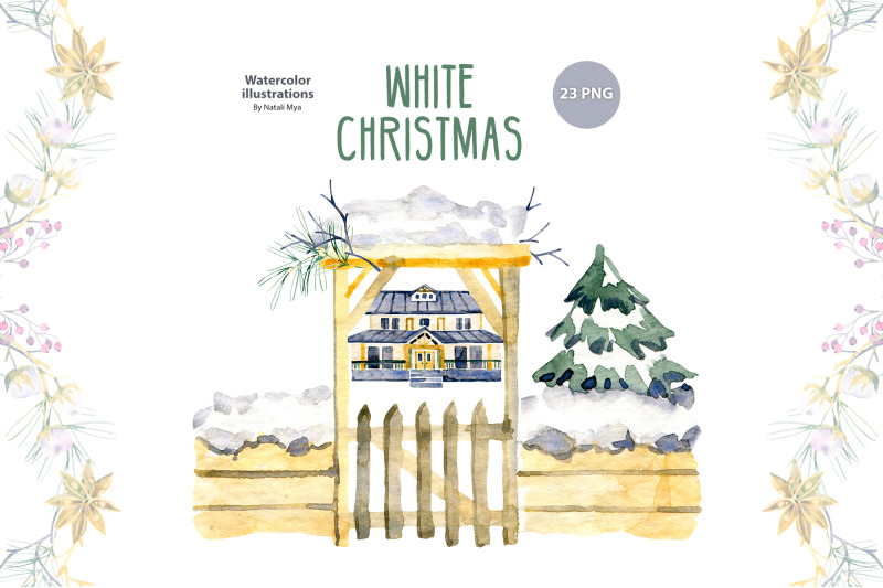 watercolor-white-christmas