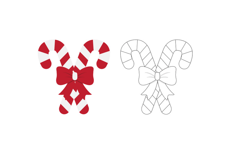 christmas-candy-stick-fill-outline-icon