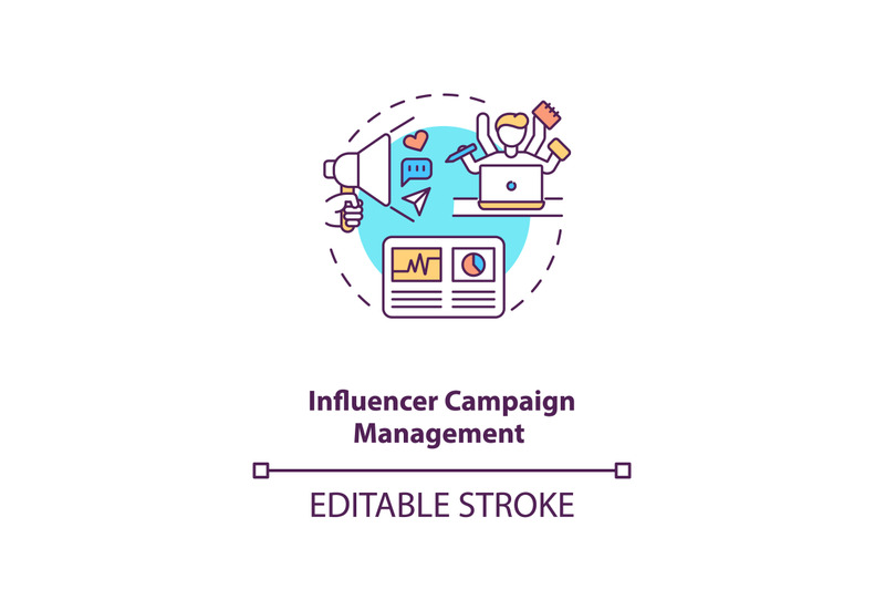 influencer-campaign-management-concept-icon