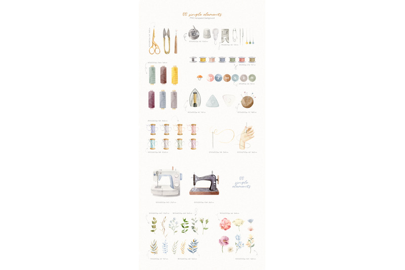 sewing-supplies-illustrations-watercolor-clipart