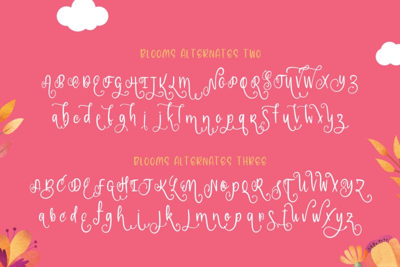 blooms-script-font-family-script-fonts-pretty-fonts-summer-fonts