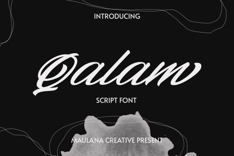 qalam-script-font
