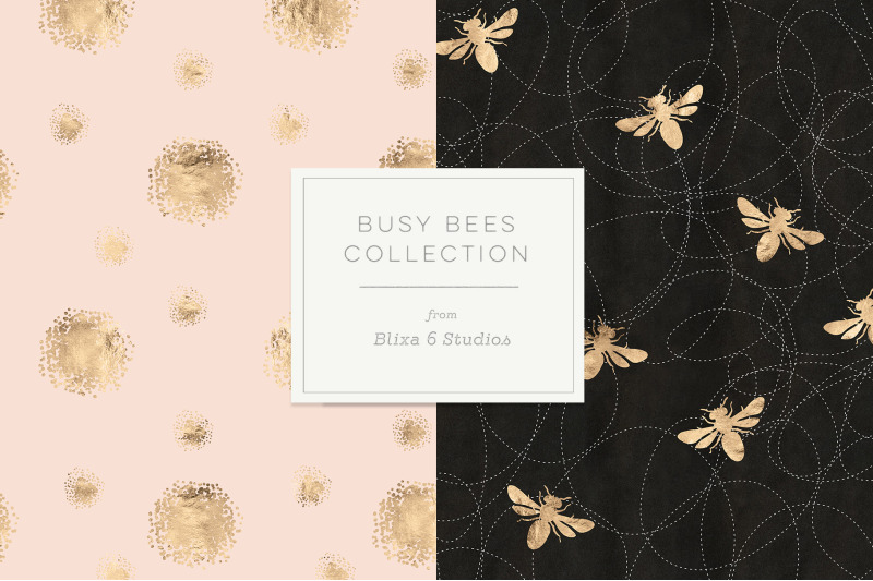 busy-bee-rose-gold-digital-patterns