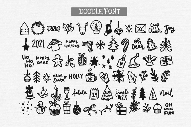 christmas-joy-handwritten-serif-and-doodle-font