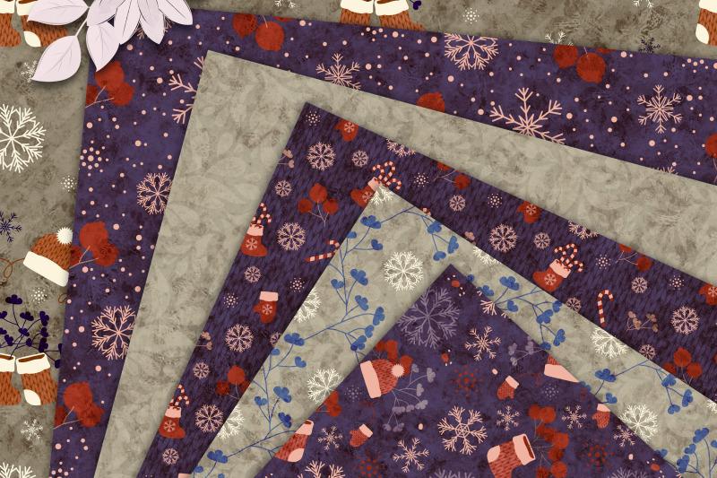 purple-beige-winter-amp-christmas-shabby-seamless-patterns