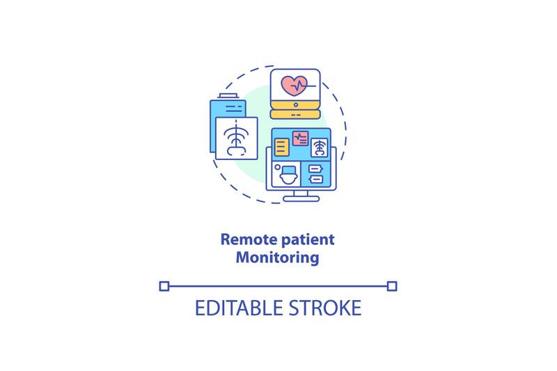 remote-patient-monitoring-concept-icon
