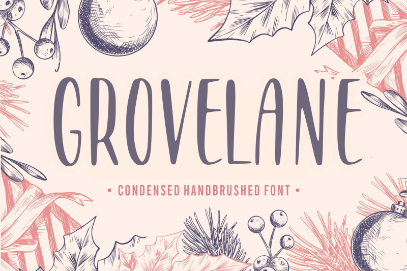 grovelane-condensed-handbrushed-font