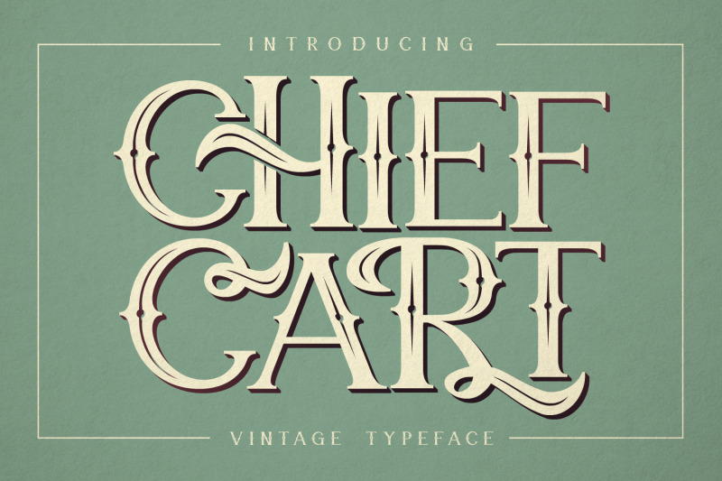 chief-cart-vintage-typeface