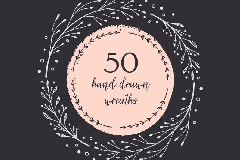 50-hand-drawn-wreaths