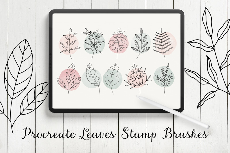 leaves-procreate-stamp-brushes