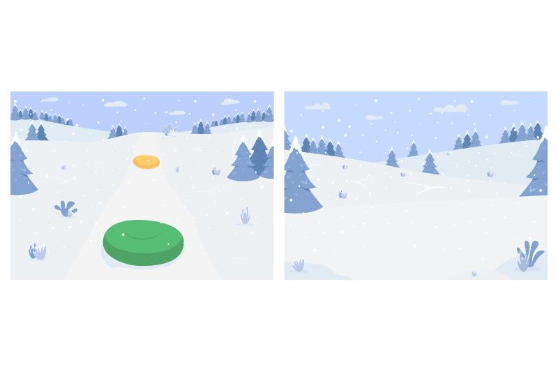winter-activities-flat-color-vector-illustration-set