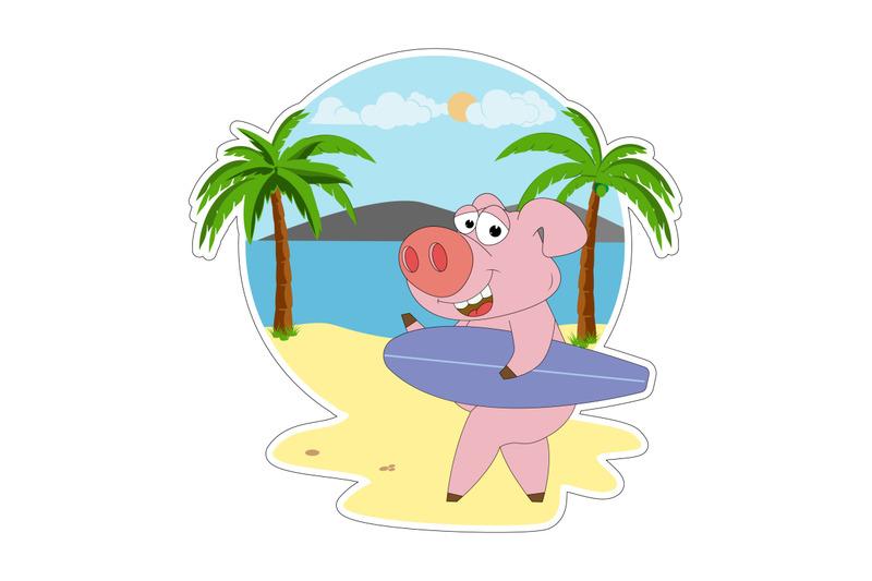 cute-pig-cartoon
