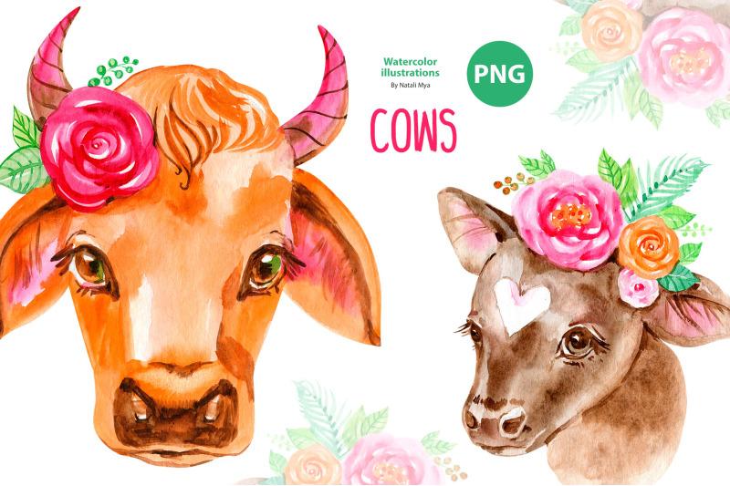 cute-floral-cows-clipart