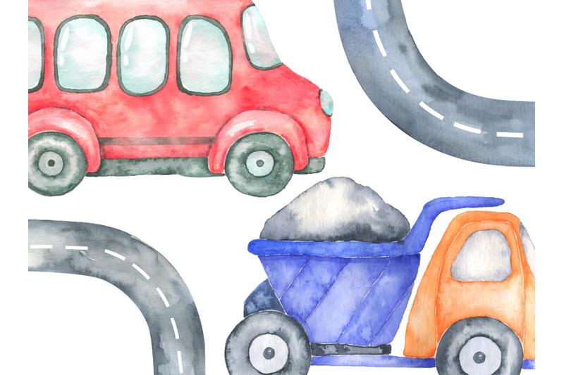 watercolor-transport-clipart-car-bus-clip-art-png-baby-shower-image