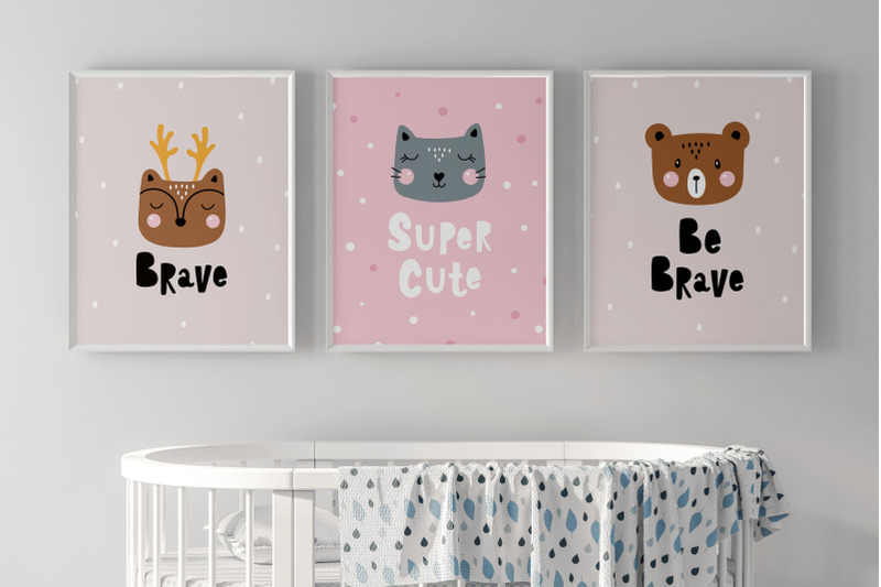 set-cute-animals-posters-planner