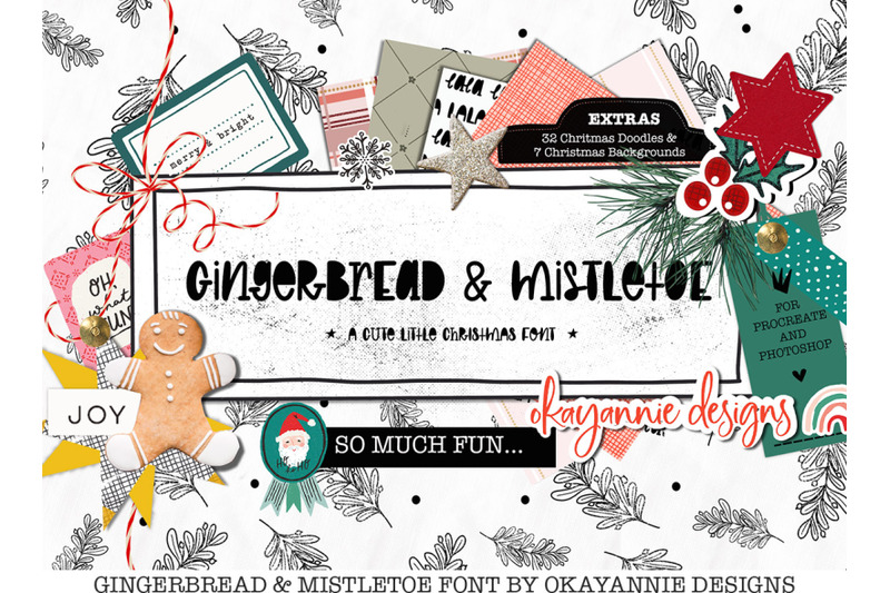 gingerbread-amp-mistletoe-font-and-extras