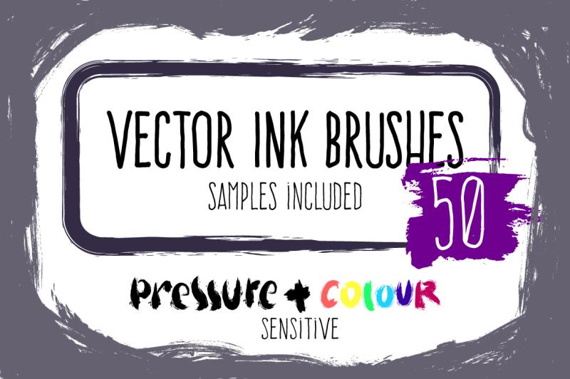 vector-ink-brushes-set