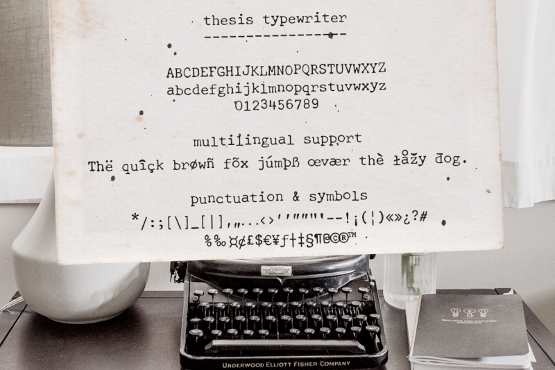 thesis-typewriter-font-and-extras
