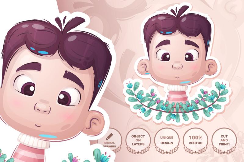 set-cute-sticker-seamless-pattern