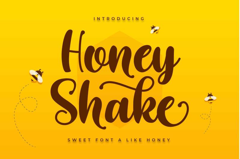 honey-shake-sweet-font