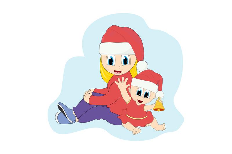 mother-and-baby-girl-on-christmas