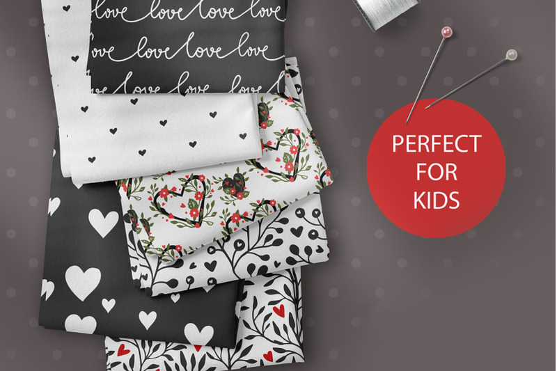 valentines-day-seamless-pattern-set