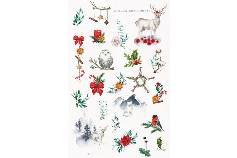christmas-watercolor-illustrations