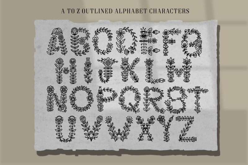 folk-floral-alphabet-letters-and-illustration