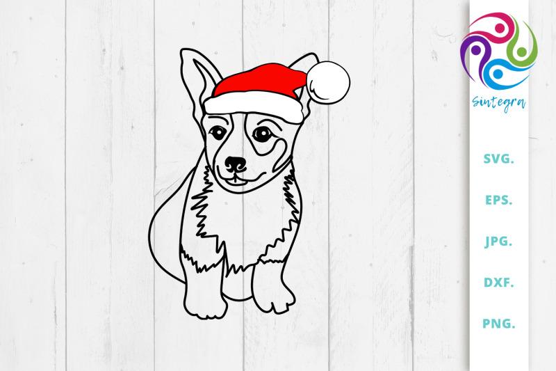 dog-with-christmas-hat-svg-corgi-svg
