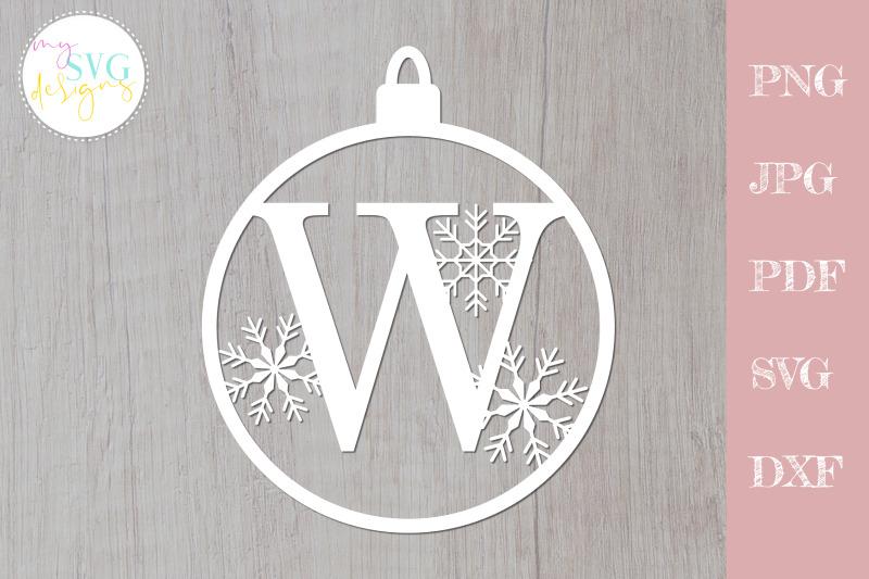 christmas-svg-christmas-monogram-svg-ornament-svg-letter-w-svg