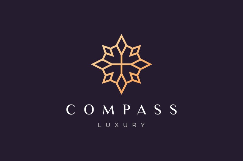 compass-logo-with-luxury-style