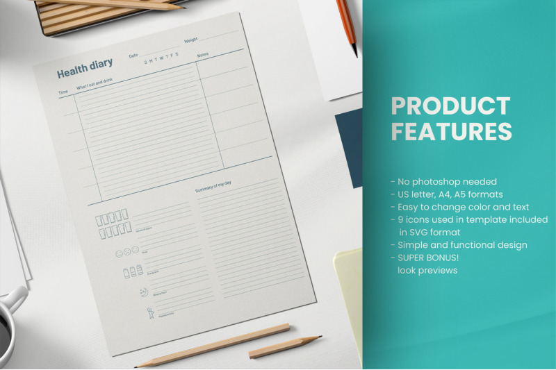 food-diary-printable-template-pdf-canva-a5-a4-us-letter-inserts