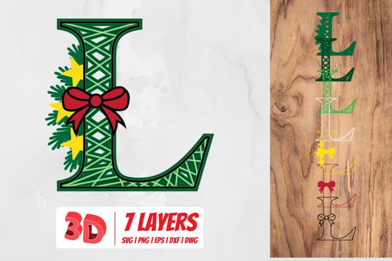 3d-christmas-letter-l