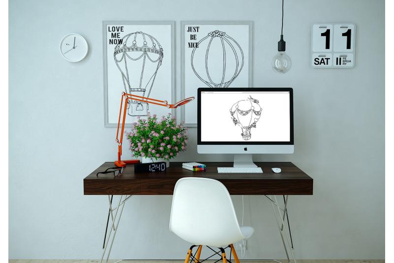 air-balloons-vector-illustrations