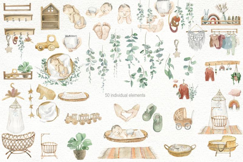 boho-nursery-watercolor