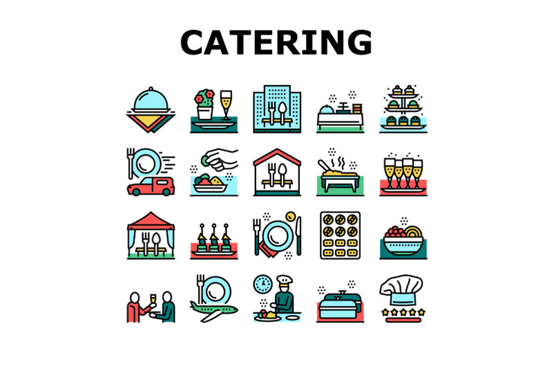 catering-food-service-collection-icons-set-vector
