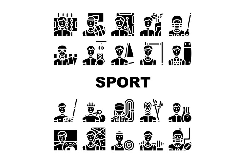 male-sport-activities-collection-icons-set-vector