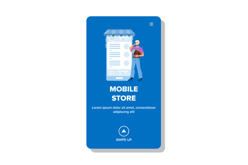 mobile-store-application-using-customer-vector