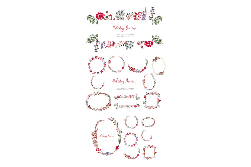christmas-berries-winter-berries-watercolor-christmas-clipart
